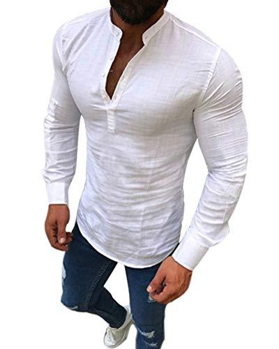 Hemd ohne kragen kurzarm bestseller strandmode - Herren hemd ohne kragen ...