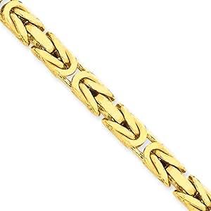 Black Bow Jewellery Company : 5.25mm, 14 Karat Yellow Gold, Byzantine Chain - 24 inch