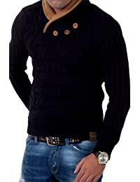 Tazzio pull en tricot col châle 3980