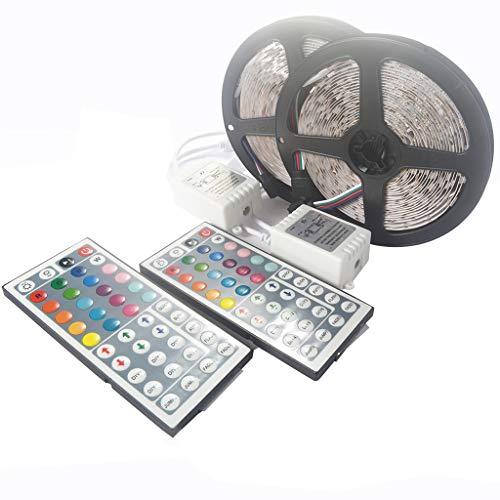 Altsommer LED Stripes Licht, 5m Stripe, Lichterkette, Band, Streifen, LED Leiste, LED Lichtleiste, LED Bänder, Lichterkette LED, weiß, bunt, inkl. Fernbedienung, inkl. Farbwechsel, Selbstklebend (Architektonische Beleuchtung)