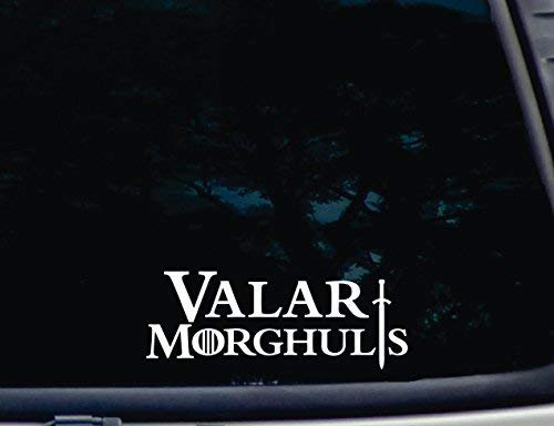 SUPERSTICKI Valar Morghulis -die Cut Vinyl Decal for Windows, Cars, Trucks, Tool Boxes, laptops, MacBook - virtually Any Hard, Smooth Surface ca. 20cm Aufkleber Autoaufkleber Wandtattoo