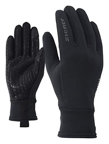 Ziener Herren IDIWOOL TOUCH Handschuhe, schwarz, 7,5