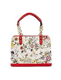 Erabbit Multicolored Beautifully Printed Spacious PU Sling Bag/ Classy Handheld Bag / Shoulder Bag (Red)