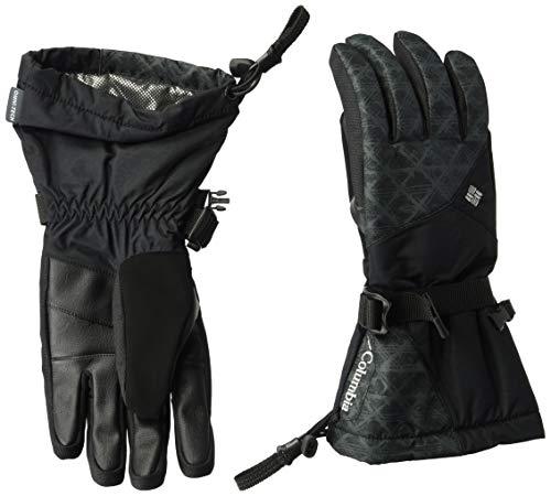 Columbia Handschuhe für Damen, W Whirlibird Glove, Nylon, Schwarz (Black Diamonds Print), Gr. S, 1567801 Damen Nylon-handschuhe