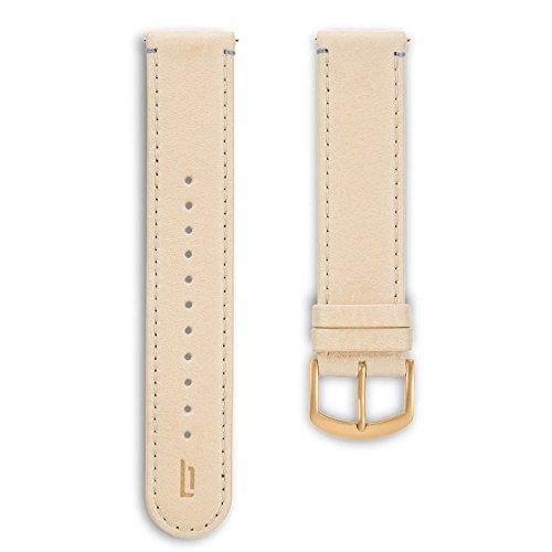 Lilienthal Berlin - Made in Germany – Wechselarmband, vegetabil gegerbtes Leder L1 (Farbe: creme / S