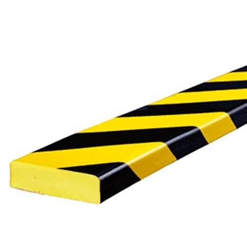 Preisvergleich Produktbild Warn- und Schutzprofil Typ S,  gelb / schwarz,  2, 5x7cm,  Länge 100cm