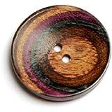 KNIT PRO 34 mm sympfonie morado de madera con forma de botón redondo, Multi-color