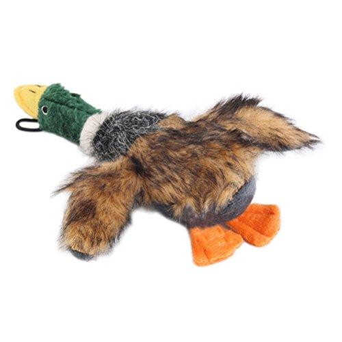 UEETEK Juguetes perro mastiquen juguetes peluche pato chillón para perros pequeño perro...