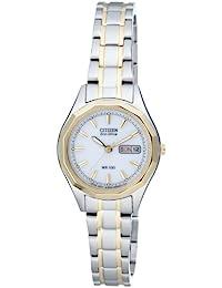 Citizen Damen-Armbanduhr Analog Quarz Edelstahl EW3144-51AE