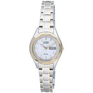 Citizen EW3144-51AE – Reloj para Mujeres, Correa de Acero Inoxidable Chapado Multicolor