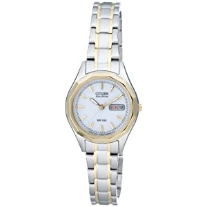 Citizen EW3144-51AE – Reloj para Mujeres, Correa de Acero Inoxidable