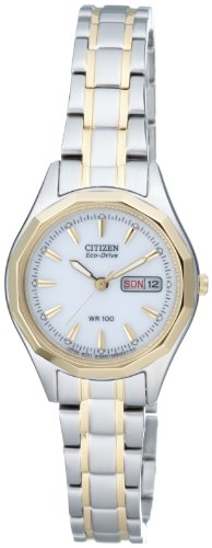 Citizen Women's Quartz Watch with Black Dial Analogue Display Quartz Stainless Steel EW3144 51AE