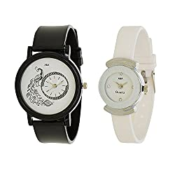 A&A CORP Analogue Multi color Dial Womens Watch Combo Of 2