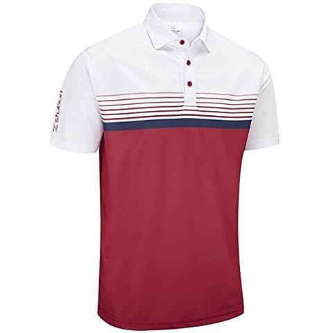 Stuburt 2017 Mens Hydro-Sport Block Polo Shirt - Berry -