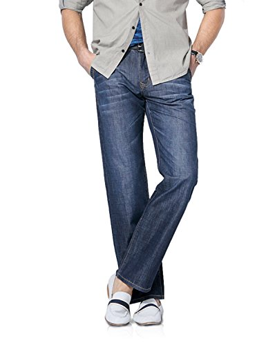 Demon and Hunter 809 Serie Herren Loose Fit Relaxed Jeanshose Jeans DH8009(38) (Fit Relaxed Jeans)