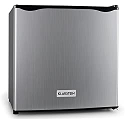 Klarstein Garfield Frigo Congelatore Freezer 4 stelle CLASSE A+ (35 Litri, Temperatura di surgelamento regolabile tra -18 e -24 °C, Ripiano griglia removibile) Argento