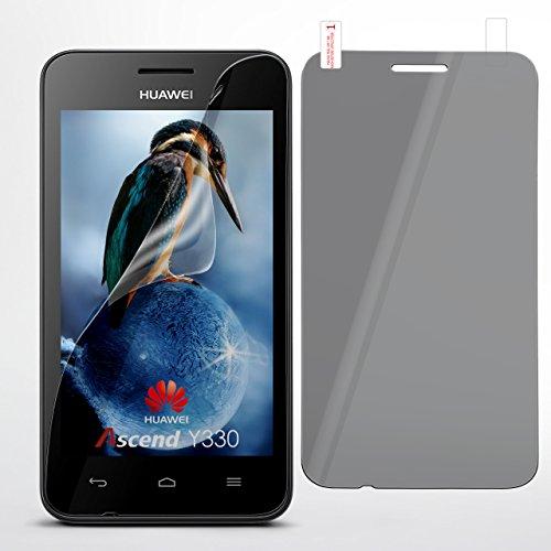 moex Huawei Y330   Spiegelfolie Bildschirm Schutz verspiegelt [Mirror] Screen Protector Handy-Folie Bildschirmschutz-Folie für Huawei Ascend Y330 Schutzfolie vorne Spiegel