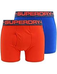 Superdry Sport Boxer Shorts Double Pack Electric Blue/Sunset Orange