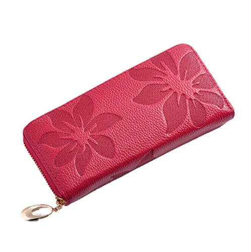 GGTFA Donna Moda Donna Clutch In Pelle Fiore Long Wallet Card Caso Di Titolare Di Borsa Borsa Borsa Rosen