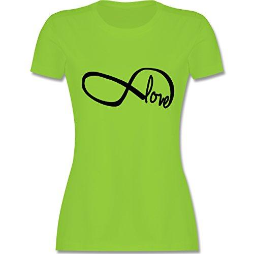 Statement Shirts - Forever Love - tailliertes Premium T-Shirt mit Rundhalsausschnitt für Damen Hellgrün