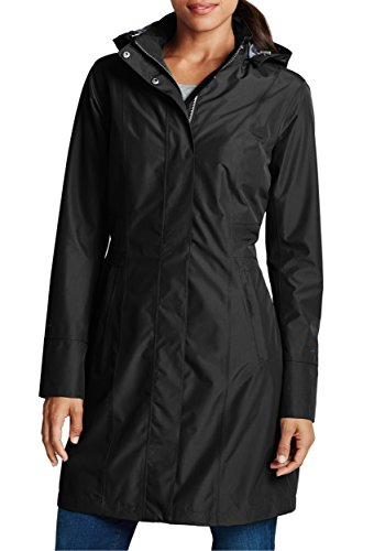 Eddie Bauer Damen Girl on The go Trenchcoat, Gr. XS (32), Schwarz