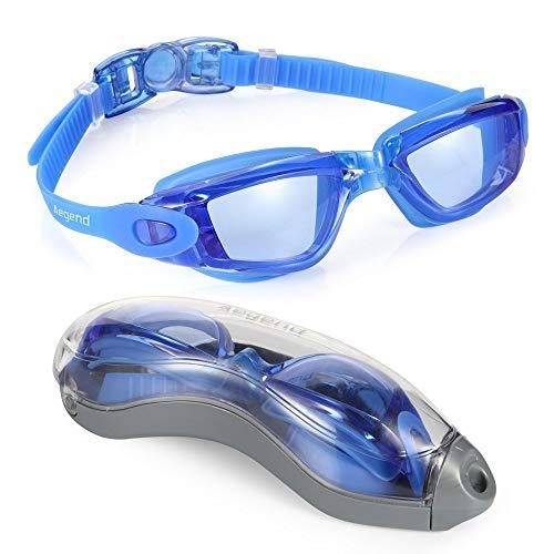 Aegend Schwimmen Brillen, klar Schwimmbrille kein Auslaufen Anti Nebel UV-Schutz Triathlon Schwimmen Brillen mit Schutz für Erwachsene Männer Frauen Youth Kinder Kind, blau