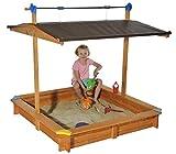 Koll Living Sandkasten Mickey 1 mit Dachlift - 140x140 cm - einfach das Dach senken und so den Sand sauber halten