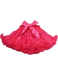 Girls Dress Tutu Dancing Skirt Party Pageant Hot Pink