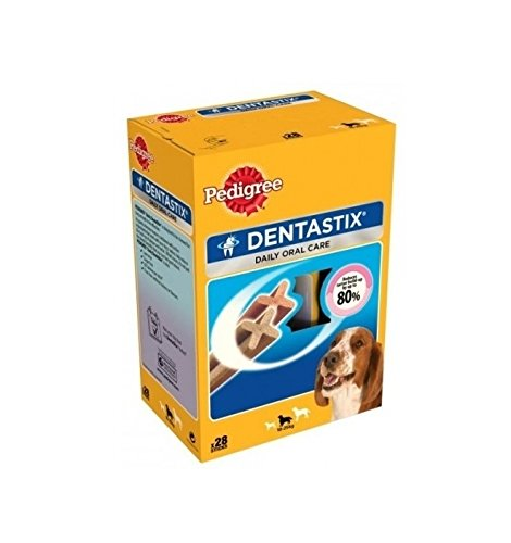 Pedigree DentaStix Medium - Snack per l'igiene orale per cani di taglia media (28)