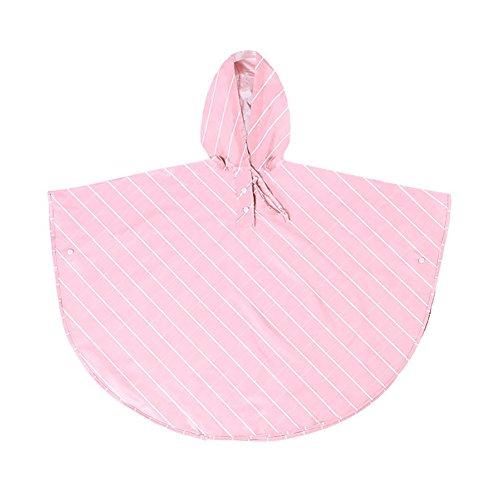 BAO CORE Modisch Twill & Bedruckter Kinderponcho niedlicher Regenmantel, leicht Regenjacke mit Kapuze, Regencape für Jungen und Mädchen