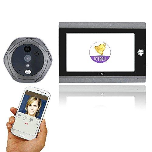 Dayangiii wifi campanello fotocamera, 720p wifi wireless digitale spioncino visore porta 5
