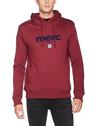 Merc of London Herren Kapuzen Sweatshirt À Capuche Pill Rouge (Burgundy)