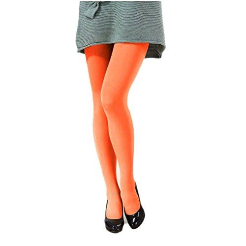 Nanxson(TM) Damen Mädchen Elastische einfarbig dick Strumpfhosen Leggings in verschiedene Farbe WZWK0006 Orange