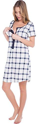 italian-fashion-if-allattamento-camicia-da-notte-per-donna-arte-mama-0114-navy-chequered-l
