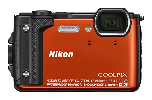 Nikon Coolpix W300 Digital Camera Orange (16 MP, 5X Optical Zoom/7.6 cm (3 Zoll) LCD Display, 4 K UHD Video, bildstabilisiert)