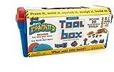 MAD MATTR 73125 Zauberknete mit Knetformen in Werkzeugkoffer, blau, rot