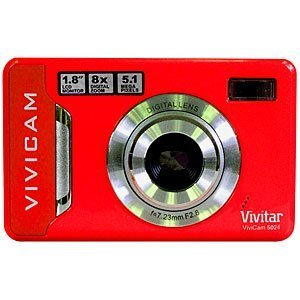 Vivitar Vivicam 5024 Digitalkamera - Rot (5 Megapixel, 2,4