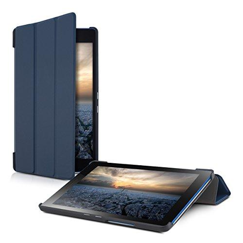 kwmobile Funda para Lenovo Tab3 8 - Smart Cover de cuero sintético para tablet - Case ultra delgada para tableta en azul oscuro