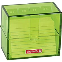 """""""Brunnen 102058052 Index Card Box 8.5 x 7.5 x 4.8 cm for A8 Index Cards Polystyrene Kiwi Colour Code"""