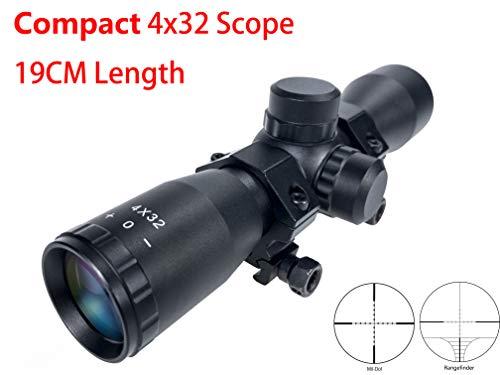 Hauska Taktisch 4x32 absehen Kompakt .223 .308 zielfernrohr luftgewehr für Jagd und Softair (Rangefinder)