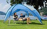 Pavillon Bologna blau, L 280 x B 280 x H 190 cm, inkl. 2 Seitenteile, leichter Camping Festival Sonnenschutz