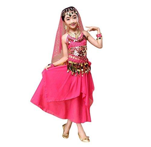 Amcool Mädchen Bauchtanz Kostüm,Schön Indian Bauchtanztuch (M, ()