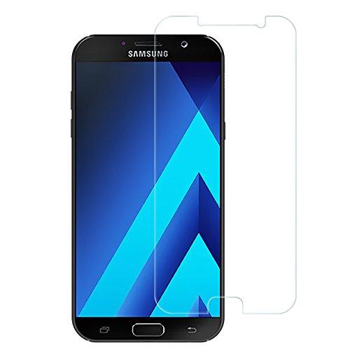 Preisvergleich Produktbild EasyAcc Samsung Galaxy A3 (2017) Panzerglasfoliefor Klar Anti-Kratz Screen Protector Displayschutz Displayfolie - 9H Hardness aus gehärtetem Glas(bewusst kleiner als das Display, da dieses gewölbt ist)