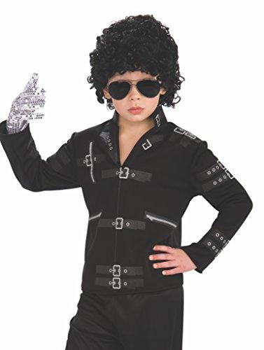 Costume carnevale/halloween giacca bad michael jackson popstar jacko- bambino