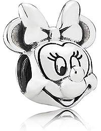 Famosa Minnie Charm Mouse + bolsa de terciopelo