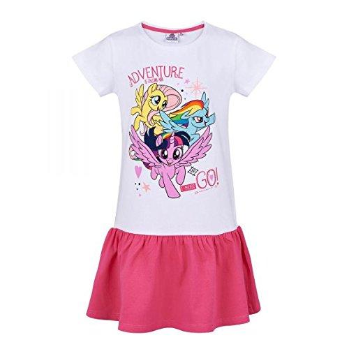 , weiß-pink, Gr. 92-128 Größe 116 (My Little Pony-rock)