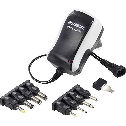 VOLTCRAFT USPS-1000 Steckernetzteil, einstellbar 3 V/DC, 4.5 V/DC, 5 V/DC, 6 V/DC, 7.5 V/DC, 9 V/DC, 12 V/DC 1000 mA 12