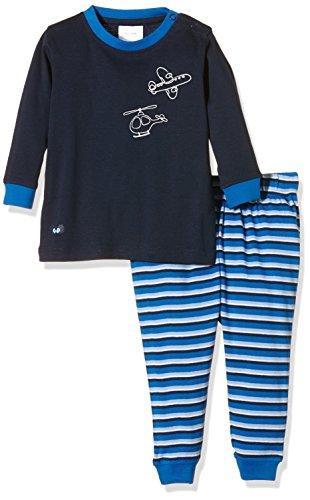 Twins Baby-Jungen Zweiteiliger Schlafanzug mit Flugzeug Druck, Blau (Hellblau 4002), 80