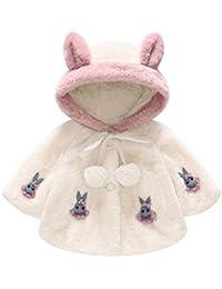 Hawkimin Baby Mädchen Winterjacke Mantel Langarm Kaninchen Kapuzenmantel Tops Warm Outwear