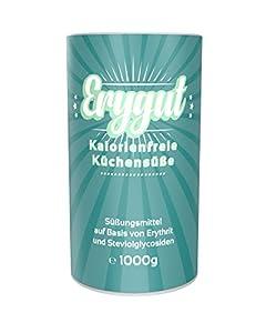 Erygut Stevia 1kg / 1000g   Kalorienfreier Zuckerersatz aus Erythrit und...